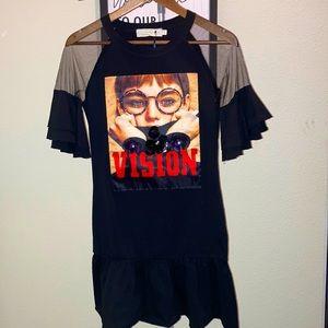 Ruffled T-Shirt Dress ❣️